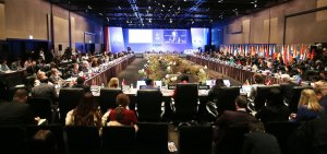 Plenum bei einem Asia-Europe Meeting (ASEM).